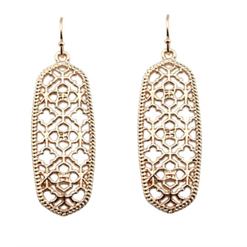 Saris Earrings in Rose Gold