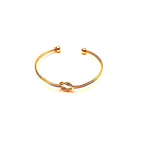 Tie the Knot Bracelet in Gold