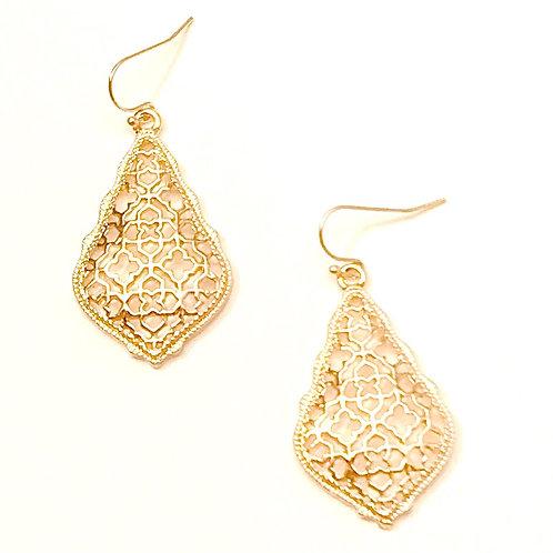 Ophelia Earrings in Gold