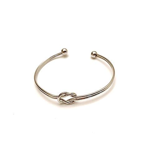 Tie the Knot Bracelet in Silver