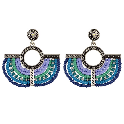 Lunar Earrings in Blue