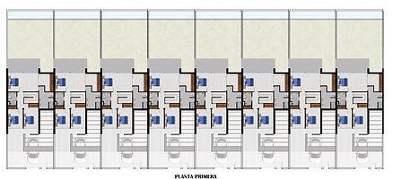 Residencial Coral (Arroyomolinos) - Plano de distribución primera planta