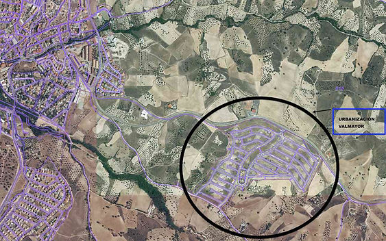 Poyecto Mediteráneo (Arroyomolinos) - Mapa satélite de ubicación