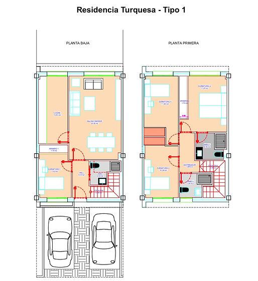 Poyecto Picasso (Arroyomolinos) - Plano distribución chalet