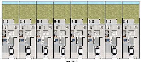 Residencial Coral (Arroyomolinos) - Plano de distribución planta baja