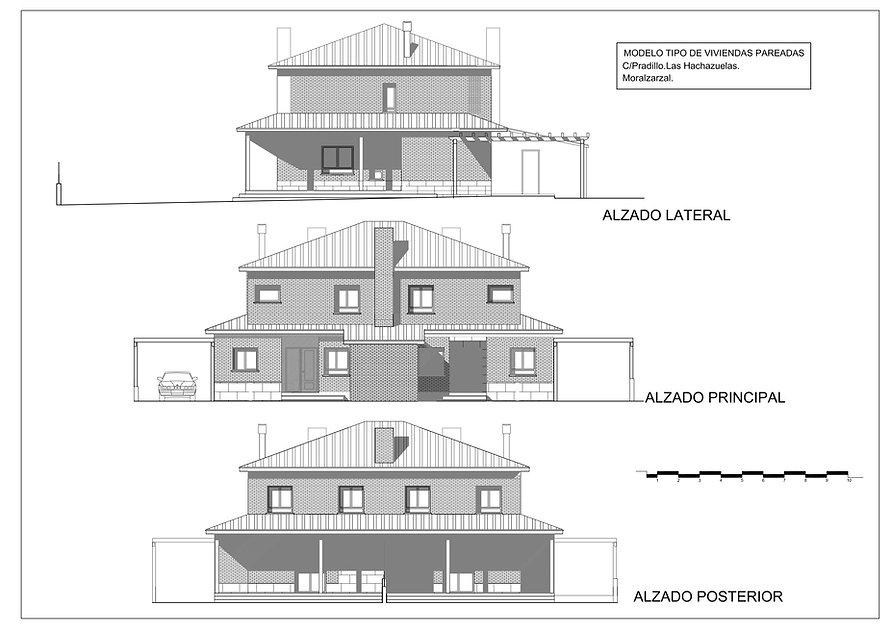 Residencial Pradillos (Moralzarzal) - Alzados de la vivenda