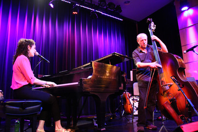 With Eva Gertz at David Friend Recital Hall