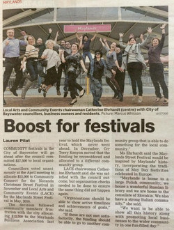 Boost for Festivals 5 May 2015