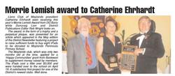Morrie Lemish Award Lions June 2013