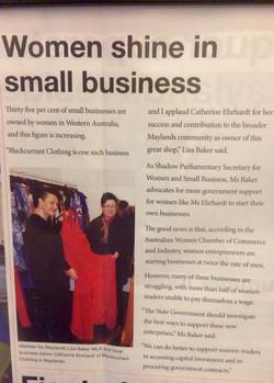 Women shine in small business