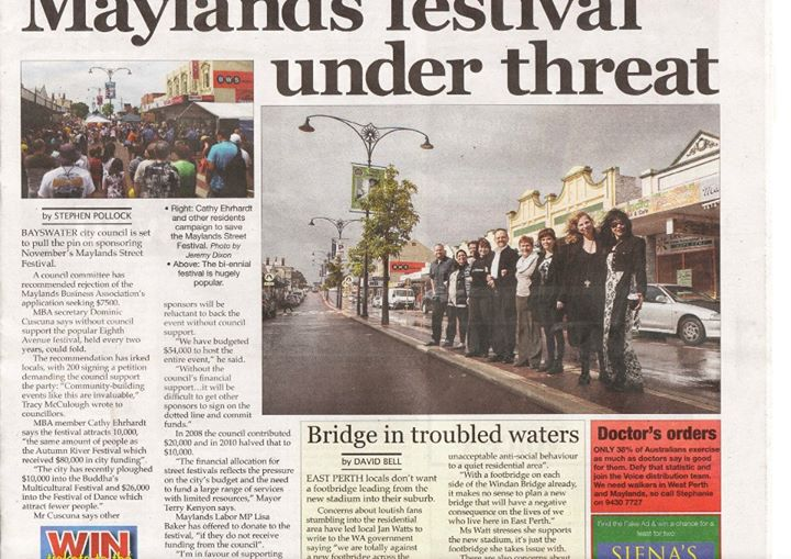Maylands Festival under threat 2012