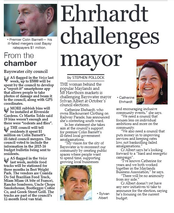 Ehrhardt challenges Mayor