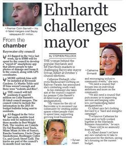 Ehrhardt challenges Mayor