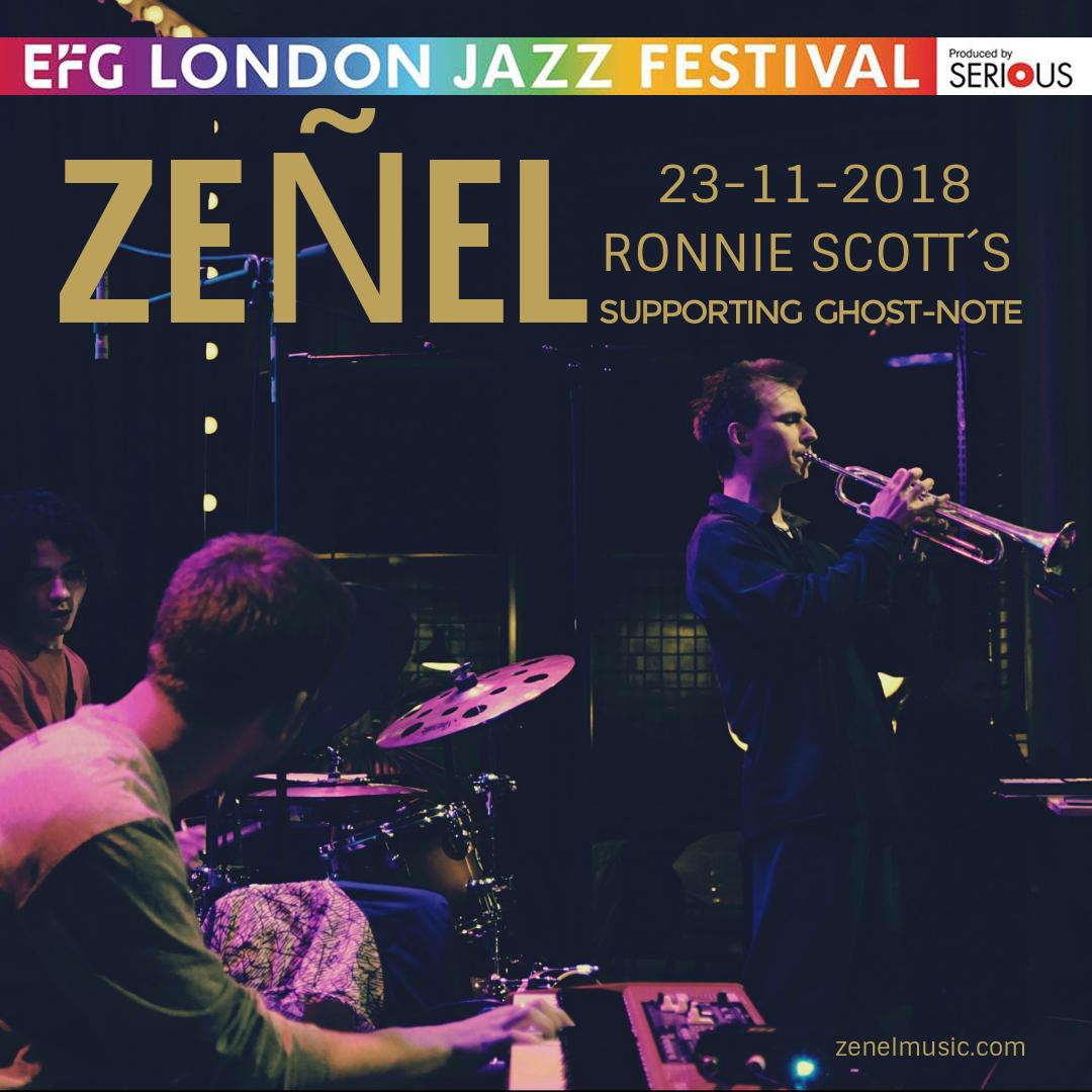23 NOV/Zeñel @RonnieScotts