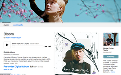 Rosie Frater-Taylor bandcamp page