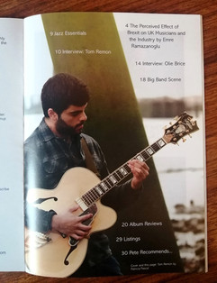 Sussex Jazz Mag feature Mar 21 issue