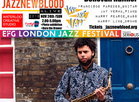 #jazznewbloodALIVE2019 line-up: Donovan Haffner