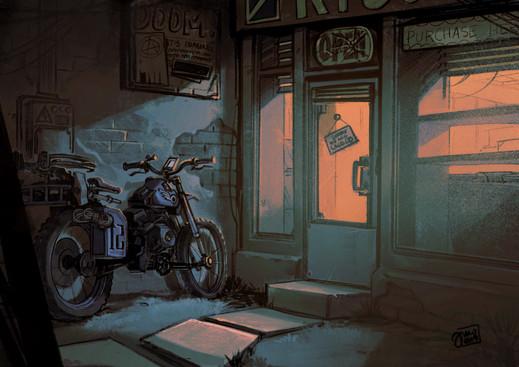 Motorcycle Alleyway (2019)