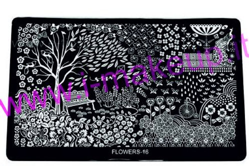 Placca per stamping Flower 16