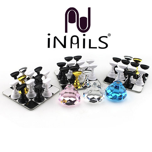 Nail tip stand scacchiera