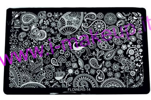 Placca per stamping Flower 14