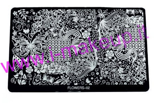 Placca per stamping Flower 02