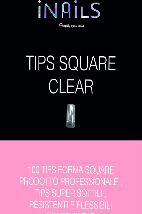 100 TIPS SQUARE COLORE CLEAR