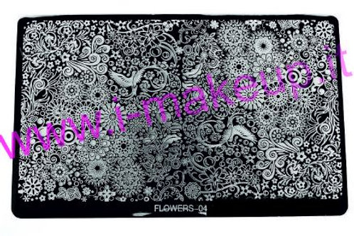 Placca per stamping Flower 04