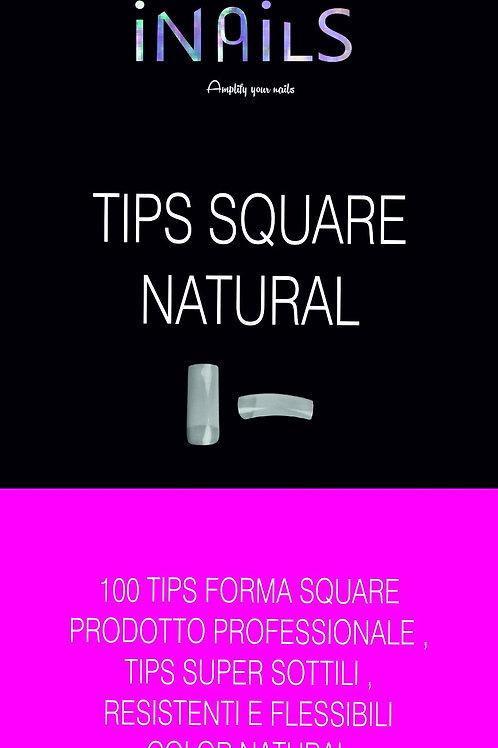 100 TIPS SQUARE COLORE NATURAL