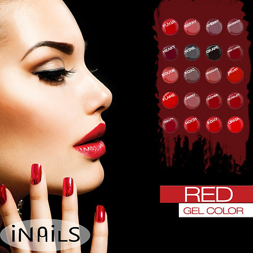 Red gel color iNails