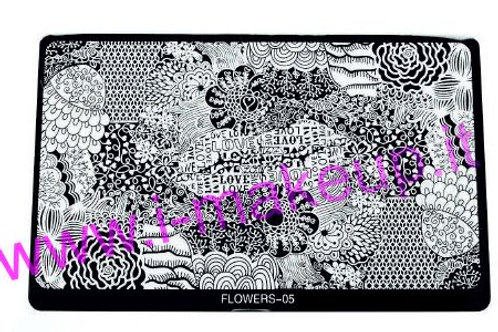 Placca per stamping Flower 05