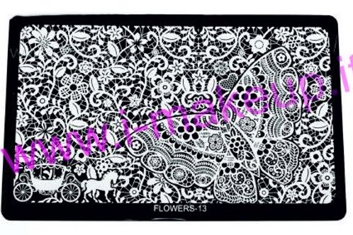 Placca per stamping Flower 13