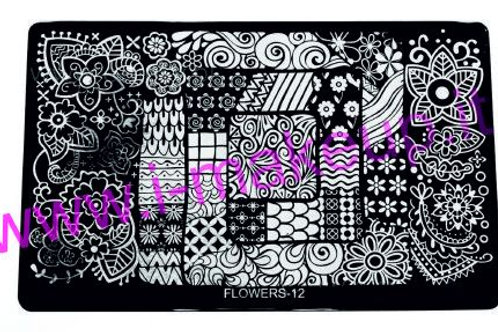Placca per stamping Flower 12