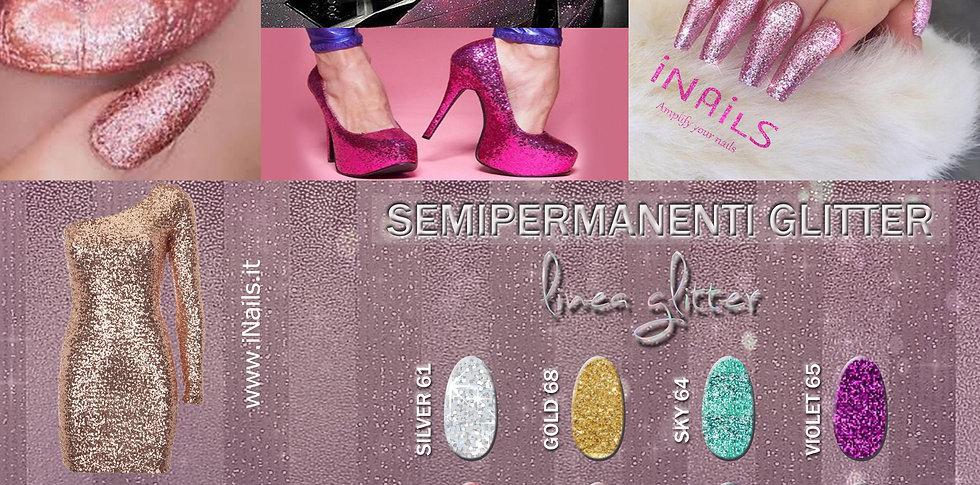 Linea Glitter semipermanenti iNails