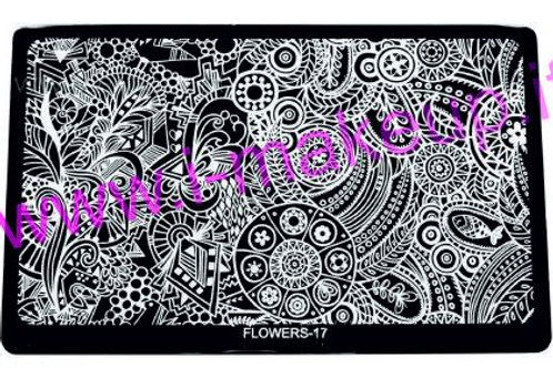 Placca per stamping Flower 17