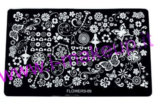 Placca per stamping Flower 09