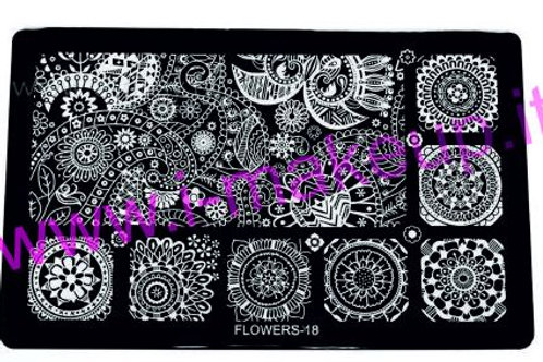 Placca per stamping Flower 18