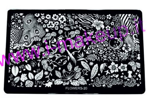 Placca per stamping Flower 20