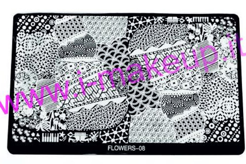 Placca per stamping Flower 08