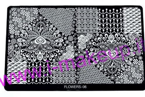 Placca per stamping Flower 06