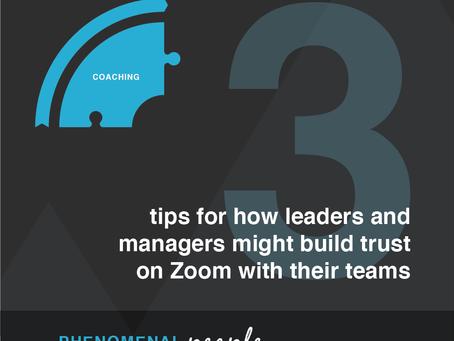 Zoom meetings - how to build trust