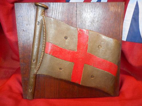 Brass St George flag