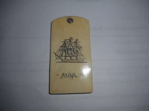 No. 330 - Scrimshaw notebook 'ANNA'