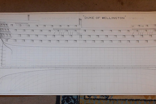 HMS Duke of Wellington ships drawing