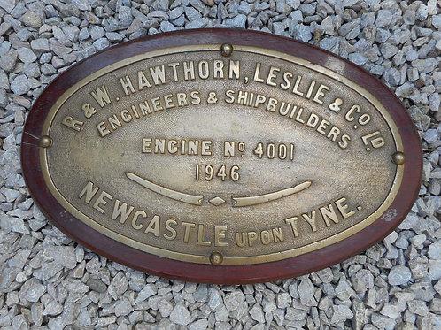 HMS Triumph engine room plate