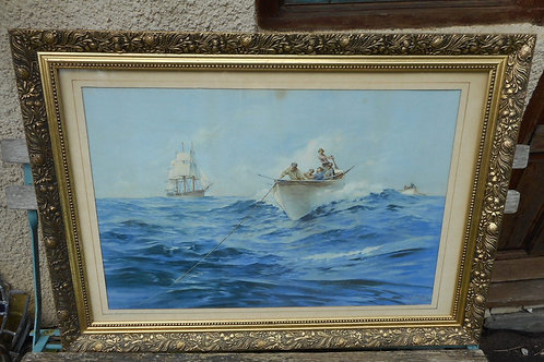 Whaling print by Maurice Randall