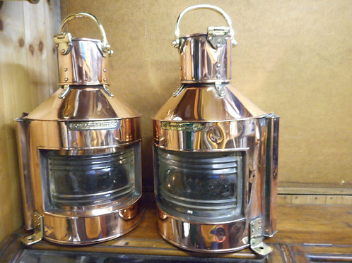 Pair of polished Port and Starboard lamps