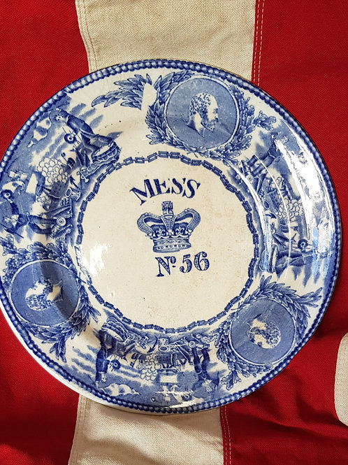 RN Mess plate No. 56 - Edwardian