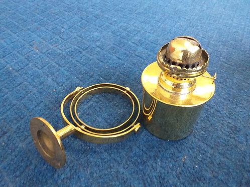 Brass gimballed oil lamp