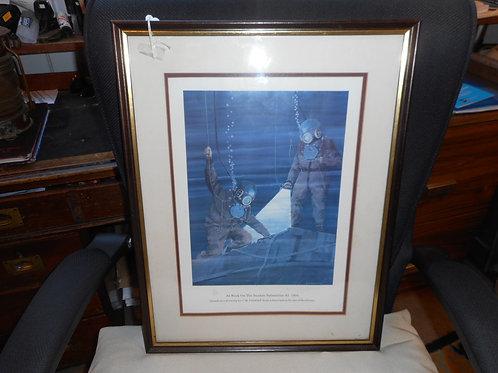 Framed diving print